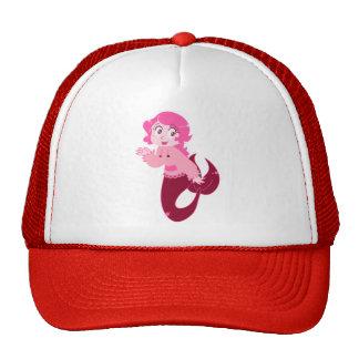 Cute Pink Mermaid Girl Hats