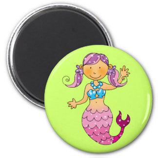 Cute pink mermaid magnet
