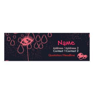 cute pink mini business card