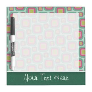 Cute Pink & Mint Retro Pattern Dry-Erase Board