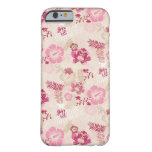Cute pink modern flowers pattern barely there iPhone 6 case
