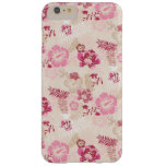 Cute pink modern flowers pattern barely there iPhone 6 plus case