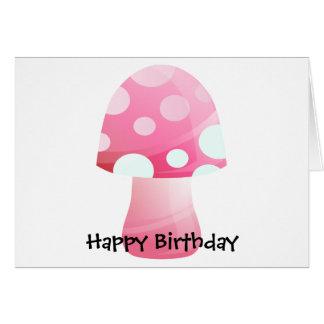 Cute Pink Morsel Mushroom Card