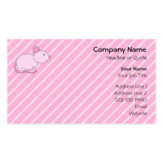 Cute Pink Mouse. Business Card