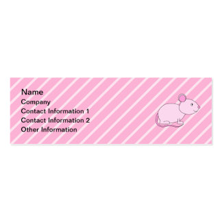 Cute Pink Mouse. Business Card Templates