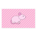 Cute Pink Mouse. Business Card Template