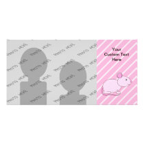 Cute Pink Mouse. Card