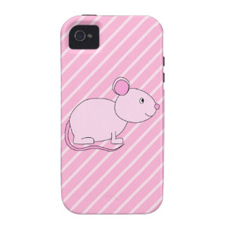 Cute Pink Mouse iPhone 4 Cases