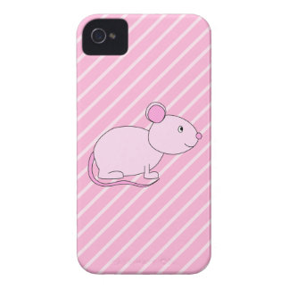 Cute Pink Mouse iPhone 4 Cover