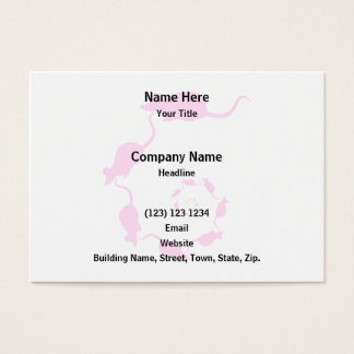 Cute Pink Mouse Design. Spiral of Mice. Business Card