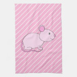 Cute Pink Mouse. Kitchen Towels
