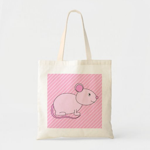 Cute Pink Mouse. Tote Bag