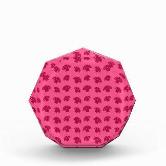 Cute pink mushroom pattern awards