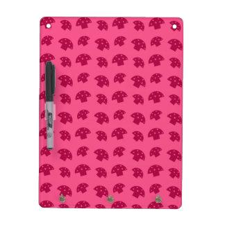 Cute pink mushroom pattern dry erase whiteboards