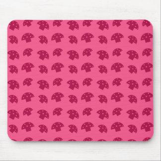 Cute pink mushroom pattern mouse pad