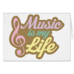 Cute Pink Music Is My Life Card