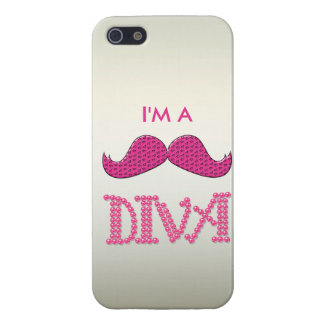 Cute Pink Mustache& Pearls Diva Case For iPhone SE/5/5s