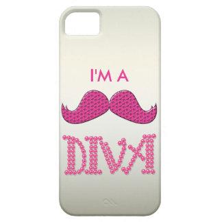 Cute Pink Mustache& Pearls Diva iPhone SE/5/5s Case