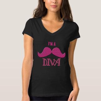 Cute Pink Mustache& Pearls Diva Shirt