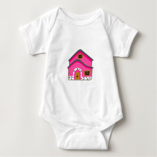 CUTE PINK NEW JERSEY CARTOON HOUSE GIRLY HOME BABY BODYSUIT