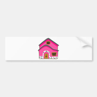 CUTE PINK NEW JERSEY CARTOON HOUSE GIRLY HOME BUMPER STICKER