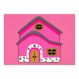 CUTE PINK NEW JERSEY CARTOON HOUSE GIRLY HOME CARD