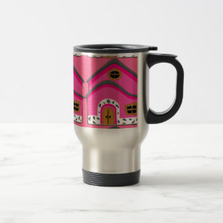 CUTE PINK NEW JERSEY CARTOON HOUSE GIRLY HOME TRAVEL MUG