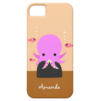 Cute Pink Octopus iPhone 5 Cover