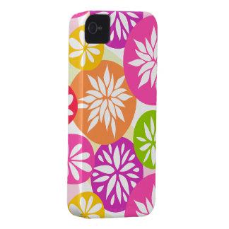 Cute pink orange flowers BlackBerry Bold Case