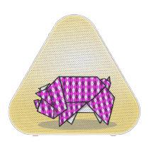 Cute Pink Origami Pig Bluetooth Speaker