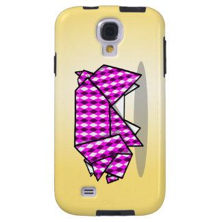 Cute Pink Origami Pig Galaxy S4 Case