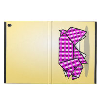 Cute Pink Origami Pig Powis iPad Air 2 Case