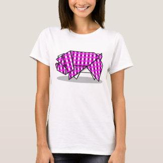 Cute Pink Origami Pig T-Shirt