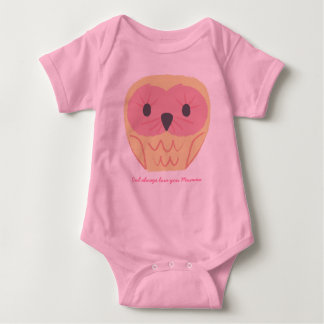 Cute Pink Owl Baby Onsie Gift Baby Shower Idea Baby Bodysuit