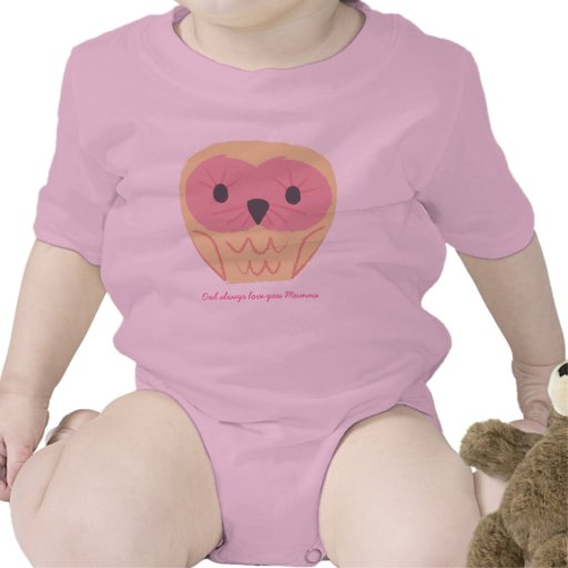 Cute Pink Owl Baby Onsie Gift Baby Shower Idea Tshirts