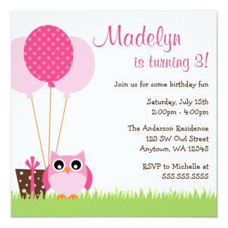 Owl Birthday Invitations & Announcements   Zazzle