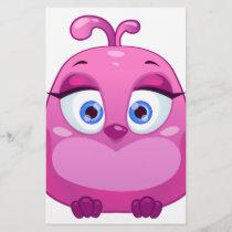 Cute pink Owl bird