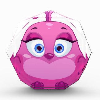 Cute pink Owl bird Acrylic Award
