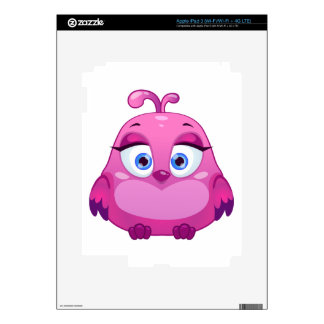 Cute pink Owl bird Decals For iPad 3