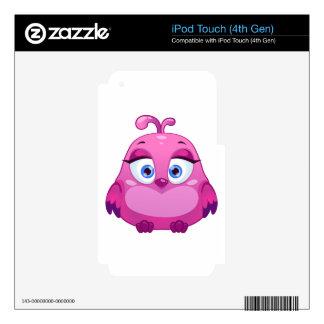 Cute pink Owl bird iPod Touch 4G Decal