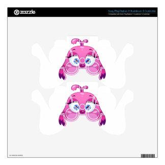 Cute pink Owl bird PS3 Controller Decals