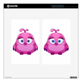 Cute pink Owl bird Skin For Kindle Fire