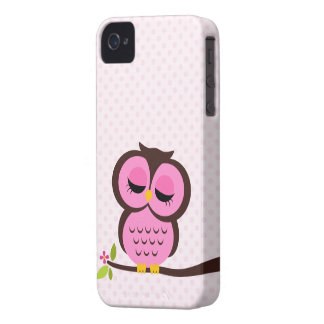 Cute Pink Owl Case for the iPhone 4