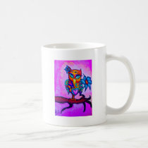 Cute Pink Owl Coffee Mug
