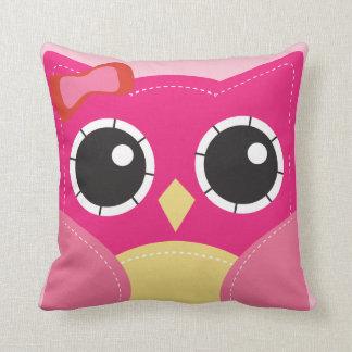 Cute Pink Owl Girls Pillow Room Decor