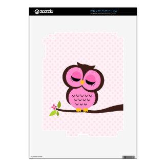 Cute Pink Owl iPad 2 Skin