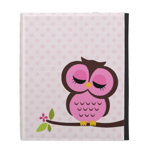 Cute Pink Owl iPad Cases