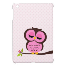 Cute Pink Owl iPad Mini Case