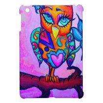 Cute Pink Owl iPad Mini Cover