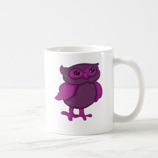 Cute Pink Owl Mugs